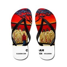 CLOJudah Rastafari Last Supper Flip Flops