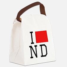 I Heart North Dakota Canvas Lunch Bag