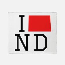 I Heart North Dakota Throw Blanket