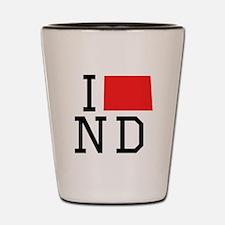 I Heart North Dakota Shot Glass