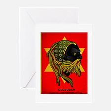 CLOJudah Rastafari Star Greeting Cards