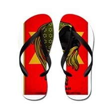CLOJudah Rastafari Star Flip Flops