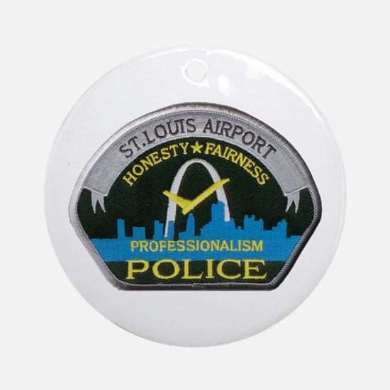 St Louis Airport Police Ornament (Round)
