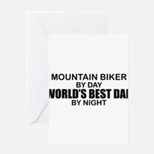 Funny Biker dad Greeting Card