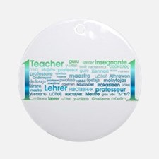 # 1 Teacher Ornament (Round)