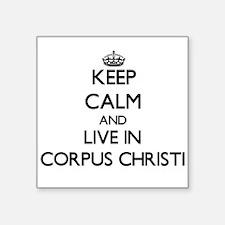 "Cute I heart corpus christi Square Sticker 3"" x 3"""