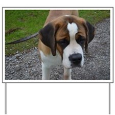 Cute Saint Bernard Yard Sign