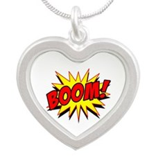 Boom! Silver Heart Necklace