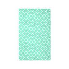 Mint Quatrefoil pattern 3'x5' Area Rug