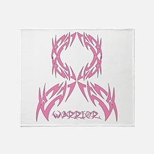 Breast Cancer Warrior Throw Blanket