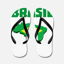 Brasil Futebol 2014 Flip Flops