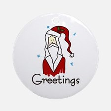 Greetings Ornament (Round)