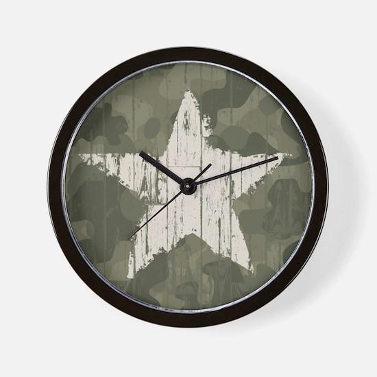 Military Star Wall Clock