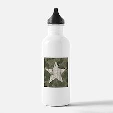 Military Star Water Bottle