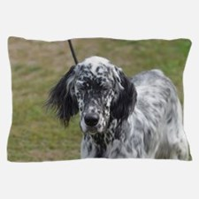 Cute Black and White English Setter Do Pillow Case