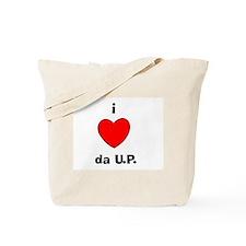 I Love da U.P. Tote Bag