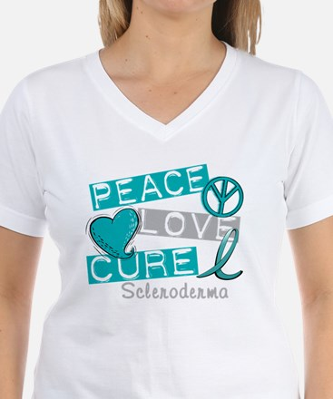 Scleroderma Peace Love Cure 1 T-Shirt