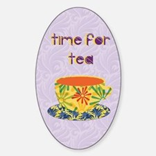 Time for Tea Sticker (Oval)