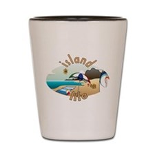 Island Life Shot Glass