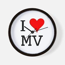 I Love MV Wall Clock