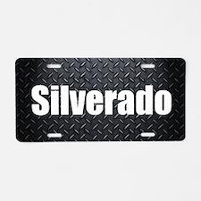 Silverado Diamond Plate Aluminum License Plate