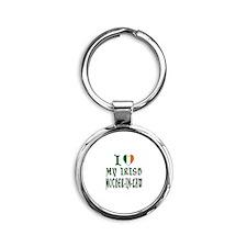 I Love My Irish Mother-In-Law Round Keychain