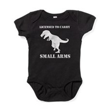 T-Rex Small Arms Carry License Dinosaur Baby Bodys