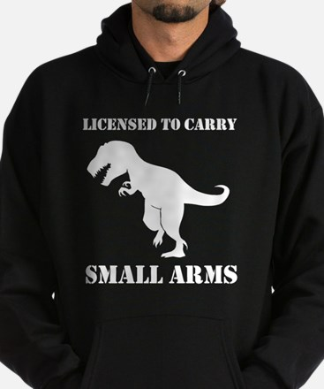 T-Rex Small Arms Carry License Dinosaur Hoodie