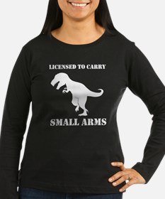 T-Rex Small Arms Carry License Dinosaur Long Sleev