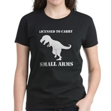 T-Rex Small Arms Carry License Dinosaur T-Shirt