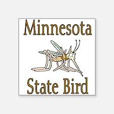 """Minnesota State Bird Square Sticker 3"""" x 3"""""""