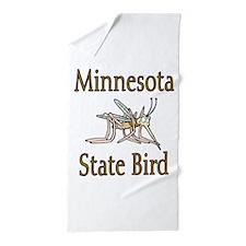 Minnesota State Bird Beach Towel