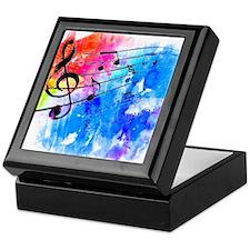 Colorful music Keepsake Box