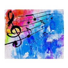 Colorful music Throw Blanket