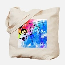 Colorful music Tote Bag