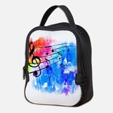 Colorful music Neoprene Lunch Bag