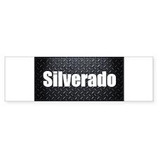 Silverado Diamond Plate Bumper Bumper Sticker