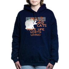musicandcats-dark.png Women's Hooded Sweatshirt