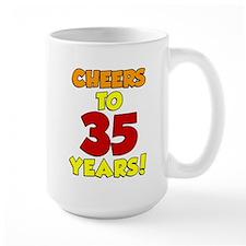 Cheers To 35 Years Drinkware Mugs