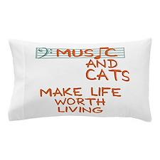 musicandcats-dark.png Pillow Case