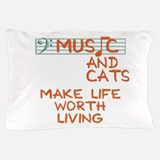 musicandcats-dark.png Pillow Case