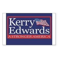 JOHN KERRY - JOHN EDWARDS Sticker (Rect.)
