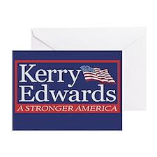 JOHN KERRY - JOHN EDWARDS Greeting Cards (6)