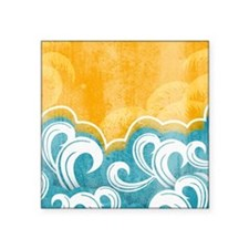 "Graphic Seaside Square Sticker 3"" x 3"""