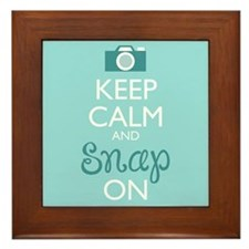 Keep Calm And Snap On Framed Tile