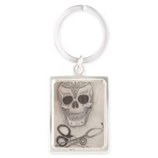 Medic Skull and Crossbones Portrait Keychain