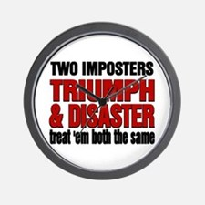 Two Imposters Wall Clock