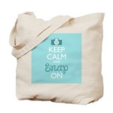 Keep calm and snap on Totes & Shopping Bags