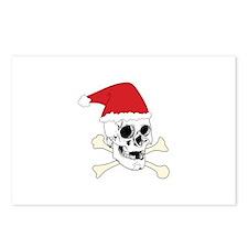 Santa Skull Postcards (Package of 8)
