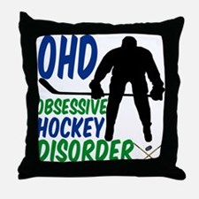 Hockey Humor Throw Pillow